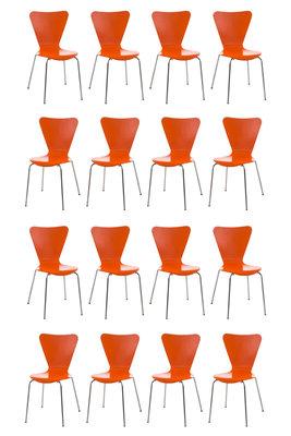 16x bezoekersstoel Colista Oranje