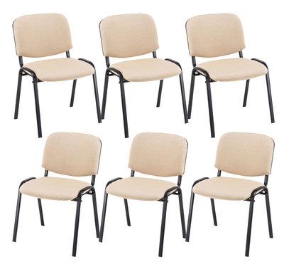 Kin set van 6 bezoekersstoelen Creme