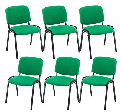 Kin set van 6 bezoekersstoelen Groen