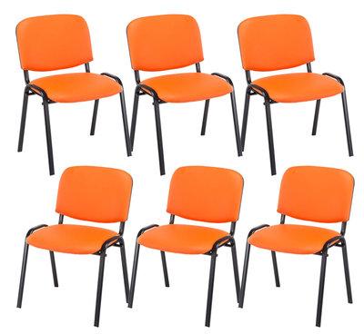Set van 6 Bezoekersstoel Kin stof Oranje