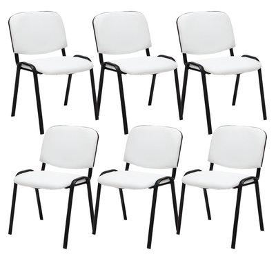 Set van 6 Bezoekersstoel Kin stof Wit
