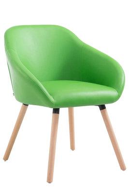 Bezoekersstoel Humbarg, kunstleer Groen,natura