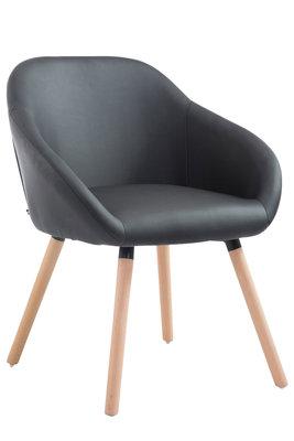 Bezoekersstoel Humbarg, kunstleer Zwart,natura