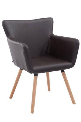 Bezoekersstoel Entwerpan kunstleer Bruin,natura