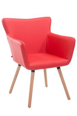 Bezoekersstoel Entwerpan kunstleer Rood,natura