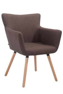 Bezoekersstoel Entwerpan Stof Bruin,natura