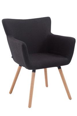 Bezoekersstoel Entwerpan Stof Zwart,natura