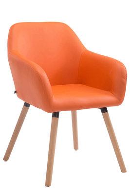 Bezoekersstoel Ichit V2 Kunstleer Oranje,natura