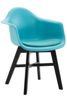 Bezoekersstoel Cilgira Kunstleder Blauw,Zwart