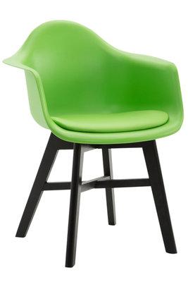 Bezoekersstoel Cilgira Kunstleder Groen,Zwart