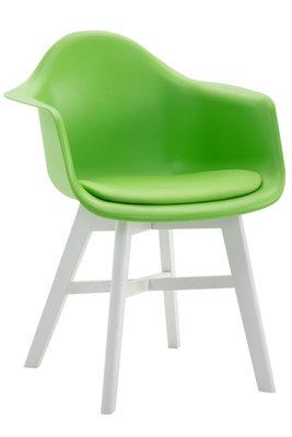 Bezoekersstoel Cilgira Kunstleder Groen,Wit