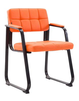 Bezoekersstoel Cinidi B Kunstleer Oranje
