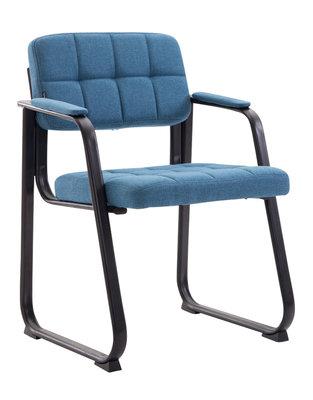 Bezoekersstoel Cinidi B Stof Blauw