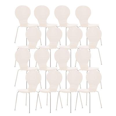 Set van 16 stapelstoelen Doegi Wit