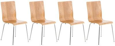 Set van 4 Pipi bezoekersstoelen eiche,