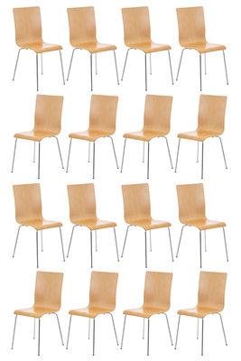 Set van 16 Pipi bezoekersstoelen natura,