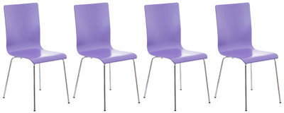 Set van 4 Pipi bezoekersstoelen Paars