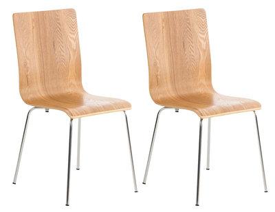 Set van 2 bezoekersstoel Pipi eiche,