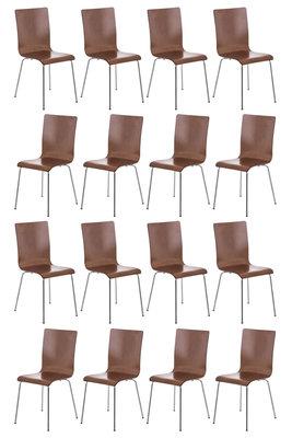 Set van 16 Pipi bezoekersstoelen Bruin