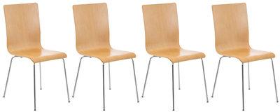 Set van 4 Pipi bezoekersstoelen natura,