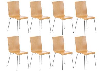 Set van 8 Pipi bezoekersstoelen natura,