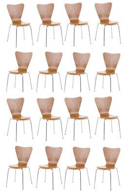 16x bezoekersstoel Colista eiche,