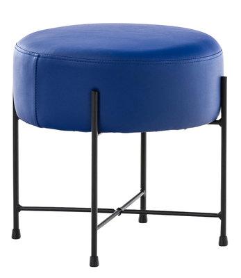 Hocker Mersiella Kunstleer Blauw