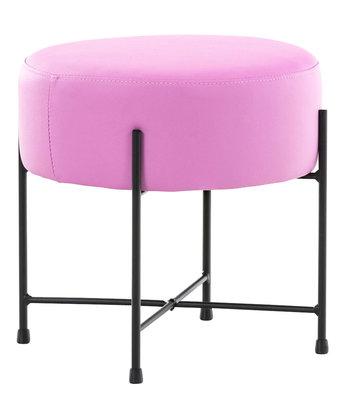 Hocker Mersiella Kunstleer pink,