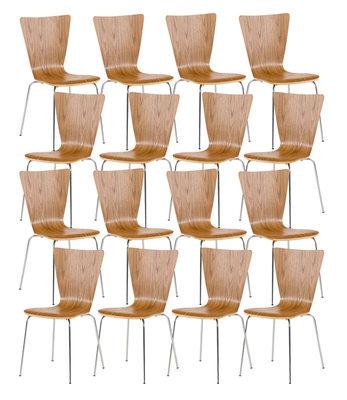 16x bezoekersstoel Oaran eiche,