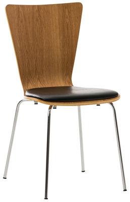 Bezoekersstoel Aaron kunstleer eiche/Zwart