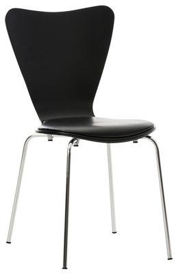 Bezoekersstoel Calisto kunstleer Zwart/Zwart