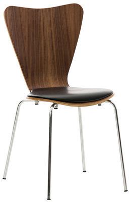 Bezoekersstoel Calisto kunstleer walnuss/Zwart