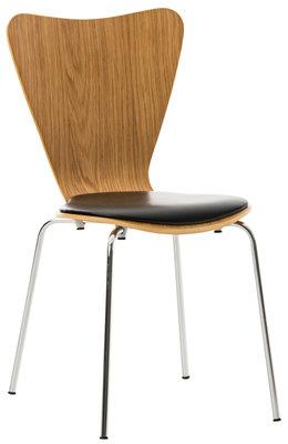 Bezoekersstoel Calisto kunstleer eiche/Zwart