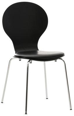 Bezoekersstoel Diego kunstleer Zwart/Zwart