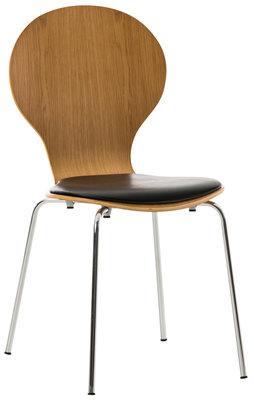 Bezoekersstoel Diego kunstleer eiche/Zwart