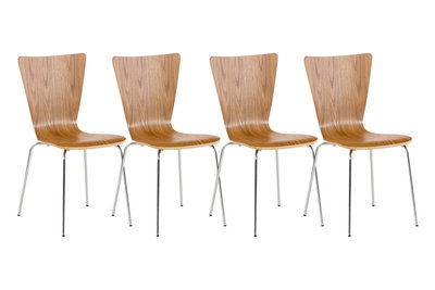 4x bezoekersstoel Oaran eiche,