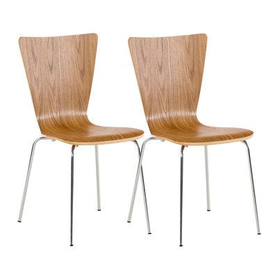 2x bezoekersstoelen Oaran eiche,