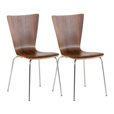 2x bezoekersstoelen Oaran walnuss,