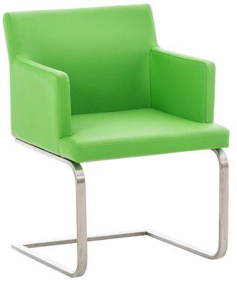 Eetkamerstoel Oberfard kunstleer Groen,Metaal