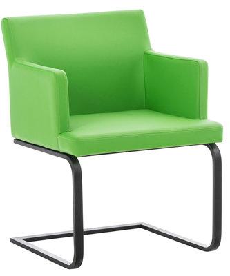 Eetkamerstoel Oberfard kunstleer Groen,Zwart