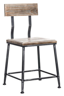 Industrial design stoel Qeeuns antik silber,