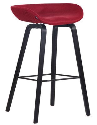 Barkruk Inehaam stof Rood,Zwart (eiche)