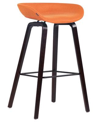 Barkruk Inehaam stof Oranje,walnuss (eiche)
