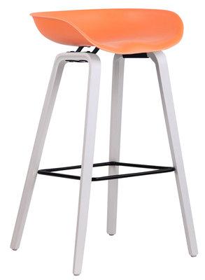 Barkruk Inehaam Kunststof Oranje,Wit (eiche)