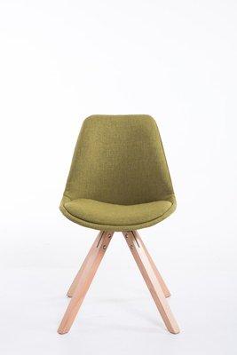 Bezoekersstoel Teulouso Vierkant frame Stof Groen,natura (eiche)