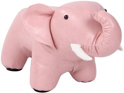 Kinderpoef Almine Kunstleer pink,