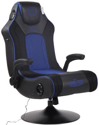 Gamingstoel Nivirs Kunstleer Zwart/Blauw