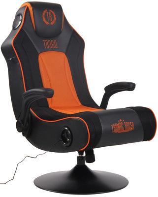 Gamingstoel Nivirs Kunstleer Zwart/Oranje