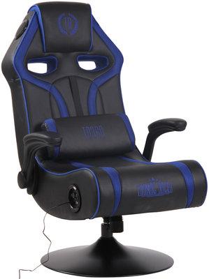 Gamingstoel Sanomo Kunstleer Zwart/Blauw