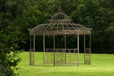 Luxe Paviljoen Romantisch rond 350 cm bronze,